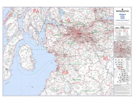 Postcode Sector Map 25 Glasgow and the Clyde